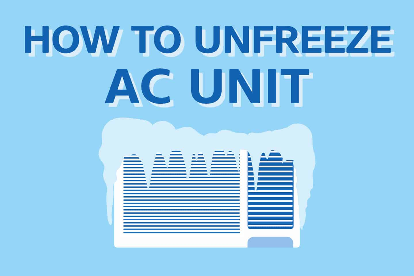 ❄️ How To Unfreeze Air Conditioner In 4 EASY Steps